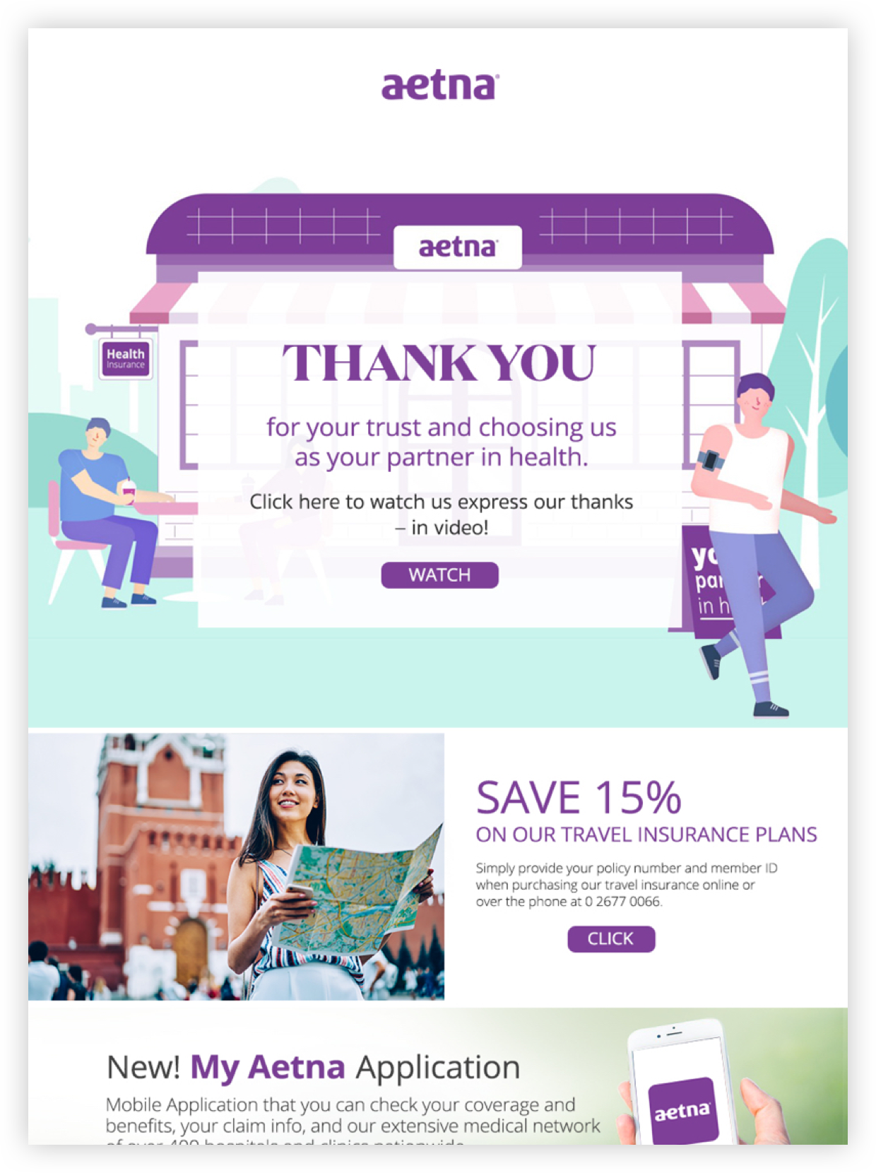 Taximail - Customer's email marketing campaign - Aetna ...