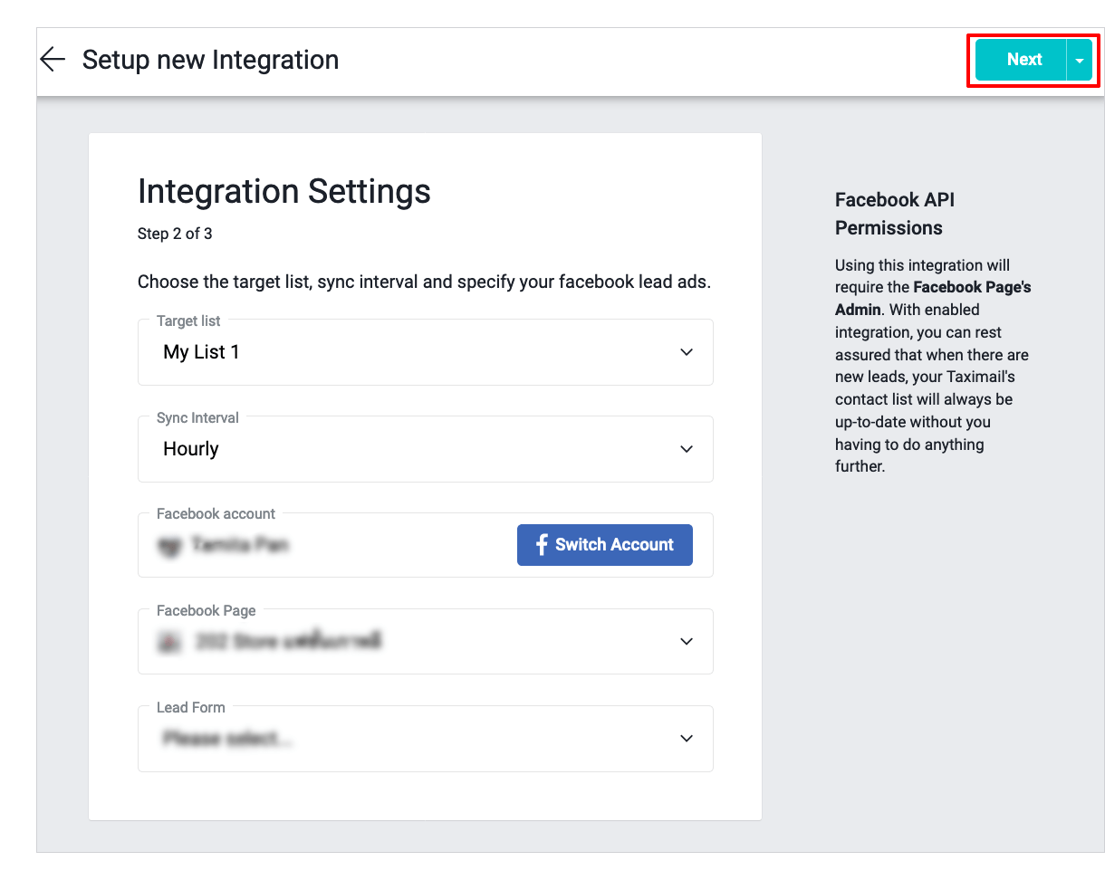 Help center - Import contacts by syncing with Facebook Lead Ads