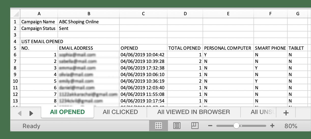 Help center - Export statistics reports